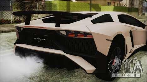 Lamborghini Aventador SV 2015 para vista lateral GTA San Andreas