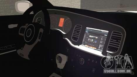 Dodge Charger SRT8 2012 Iraqi Police para GTA San Andreas vista direita