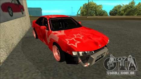 Nissan Silvia S14 Drift Red Star para GTA San Andreas esquerda vista