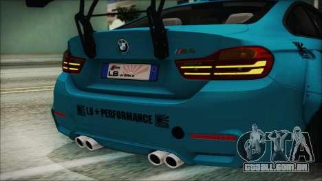 BMW M4 2014 Liberty Walk para GTA San Andreas vista interior