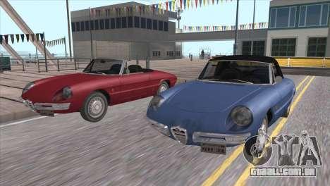 1966 Alfa Romeo Spider Duetto [IVF] para GTA San Andreas vista interior