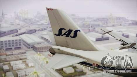 Boeing 747-283BM Scandinavian Airlines para GTA San Andreas traseira esquerda vista
