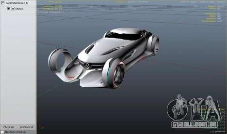 GTA 5 Mercedes-Benz Silver Lightning - Replace traseira direita vista lateral