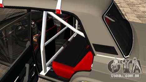 VAZ 2107 JDM para GTA San Andreas vista traseira