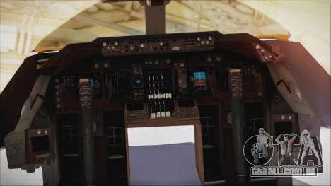 Boeing 747-237Bs Air India Akbar para GTA San Andreas vista direita