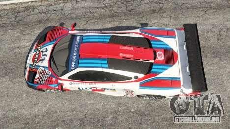 McLaren F1 GTR Longtail [Martini Racing] para GTA 5