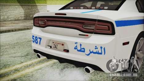 Dodge Charger SRT8 2012 Iraqi Police para GTA San Andreas vista interior