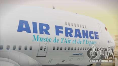 Boeing 747-128B Air France para GTA San Andreas vista traseira