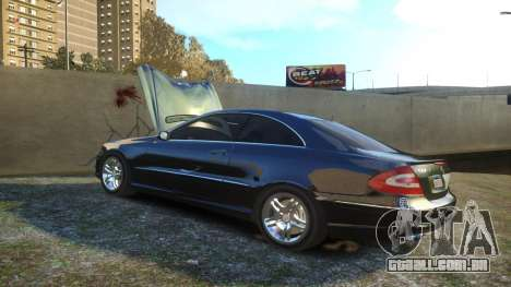 Mercedes CLK55 AMG Coupe 2003 para GTA 4 vista superior