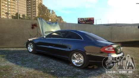 Mercedes CLK55 AMG Coupe 2003 para GTA 4 vista superior
