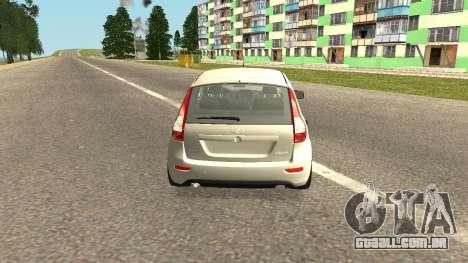 Lada Kalina 2 - Granta para GTA San Andreas esquerda vista