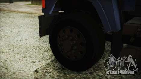 Mack Pinnacle v1.0 para GTA San Andreas traseira esquerda vista