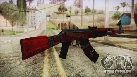 Xmas AK-47 para GTA San Andreas segunda tela