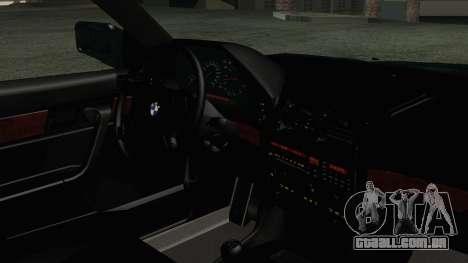 BMW 525i E34 1992 para GTA San Andreas vista direita