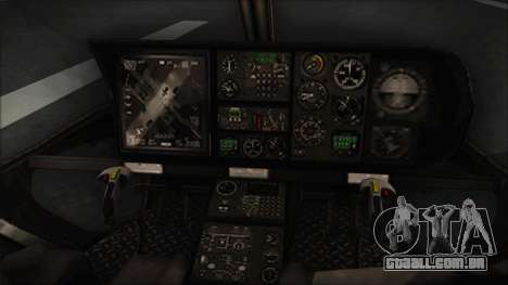 Batman Arkham Knight Police-Swat Helicopter para GTA San Andreas vista direita