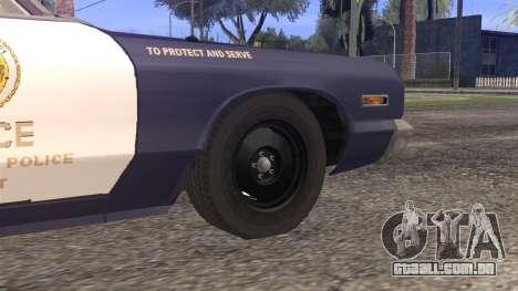 Dodge Monaco 1974 LSPD StickTop Version para GTA San Andreas traseira esquerda vista
