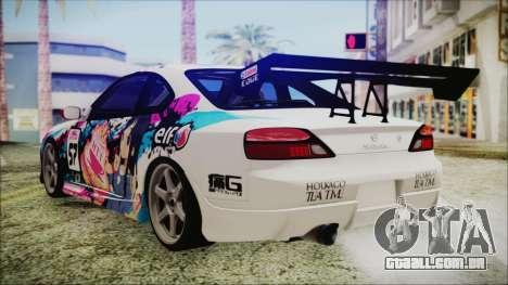 Nissan Silvia S15 Itasha Beta para GTA San Andreas esquerda vista