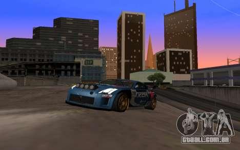 Nissan 350Z Rally para GTA San Andreas vista traseira