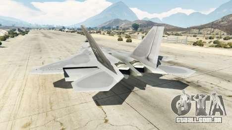 GTA 5 Lockheed Martin F-22 Raptor terceiro screenshot