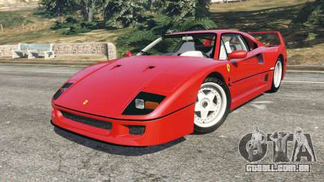 GTA 5 Ferrari F40 1987 vista lateral direita