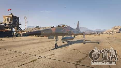 Northrop F-5E Tiger II USA para GTA 5