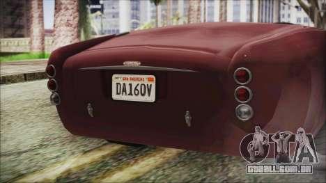 GTA 5 Declasse Mamba IVF para GTA San Andreas vista traseira