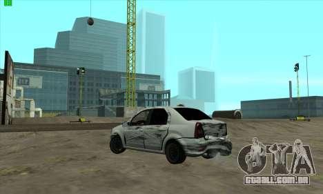 Renault Logan para vista lateral GTA San Andreas