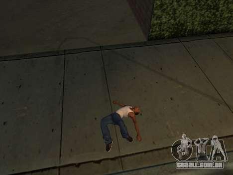 Novas animações para GTA San Andreas por diante tela