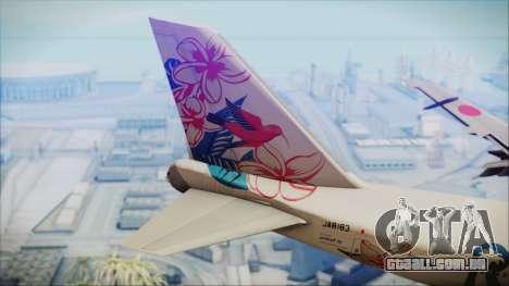 Boeing 747-300 Japan Airlines Resocha para GTA San Andreas traseira esquerda vista