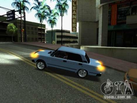 VAZ 2107-107 para GTA San Andreas interior