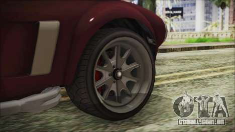 GTA 5 Declasse Mamba IVF para GTA San Andreas traseira esquerda vista