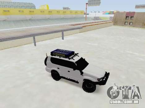 Toyota Land Cruiser Prado off-road LED para GTA San Andreas esquerda vista