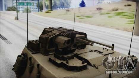 M4 Scorcher Self Propelled Artillery para GTA San Andreas vista direita
