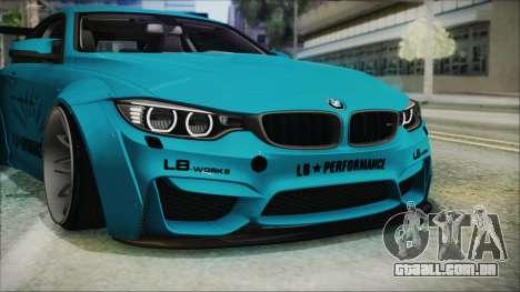 BMW M4 2014 Liberty Walk para GTA San Andreas vista inferior