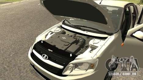 Lada Kalina 2 - Granta para GTA San Andreas vista traseira