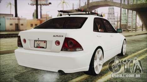 Toyota Altezza 2004 Full Tunable HQ para GTA San Andreas esquerda vista