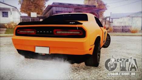 Dodge Challenger SRT 2015 Hellcat General Lee para GTA San Andreas esquerda vista