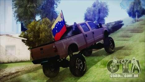 Ford F-250 Grenade Truck para GTA San Andreas esquerda vista