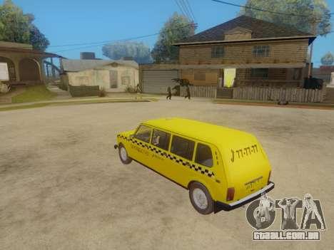 VAZ 2131 7-Porta de Táxi para GTA San Andreas vista traseira