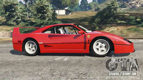 GTA 5 Ferrari F40 1987 vista lateral esquerda