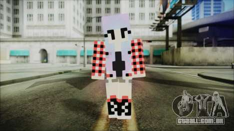 Minecraft Female Skin Edited para GTA San Andreas segunda tela