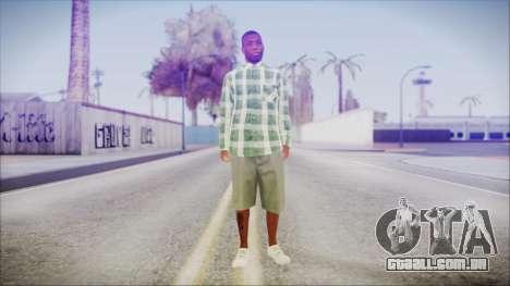 GTA 5 Grove Gang Member 2 para GTA San Andreas segunda tela