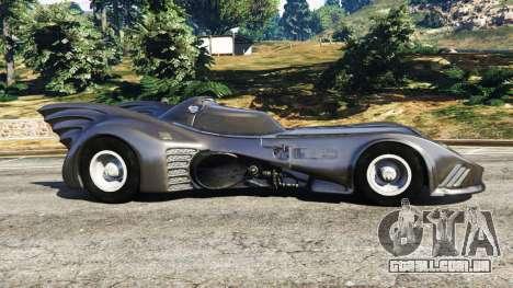 GTA 5 Batmobile 1989 [Beta] vista lateral esquerda