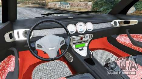GTA 5 Daewoo Joyster Concept 1997 v1.2 traseira direita vista lateral