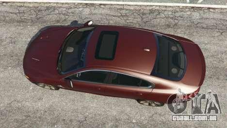 GTA 5 Jaguar XFR 2010 voltar vista