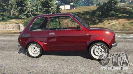 GTA 5 Fiat 126p v1.2 vista lateral esquerda