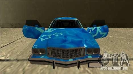 Ford Gran Torino Drift Blue Star para GTA San Andreas vista superior