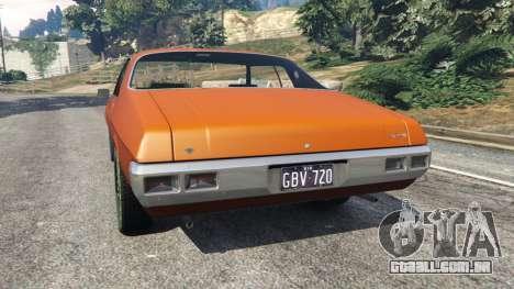GTA 5 Holden Monaro GTS traseira vista lateral esquerda