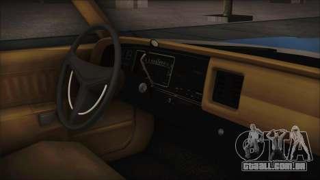 Dodge Monaco 1974 Civilian para GTA San Andreas traseira esquerda vista