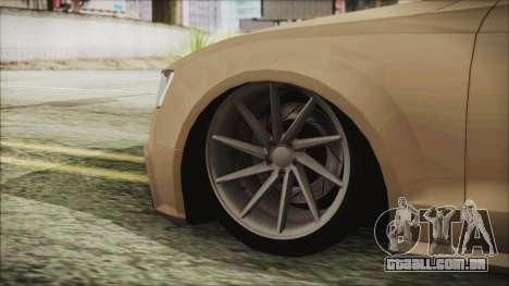 Audi RS5 para GTA San Andreas traseira esquerda vista